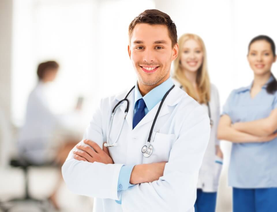 Male doctor specialist in advanced medical facility